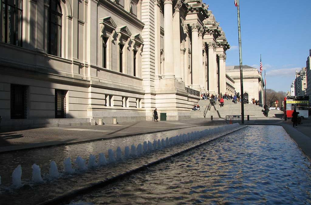 The Metropolitan Museum of Art Outdoor Fountain, New York (January 2011):
