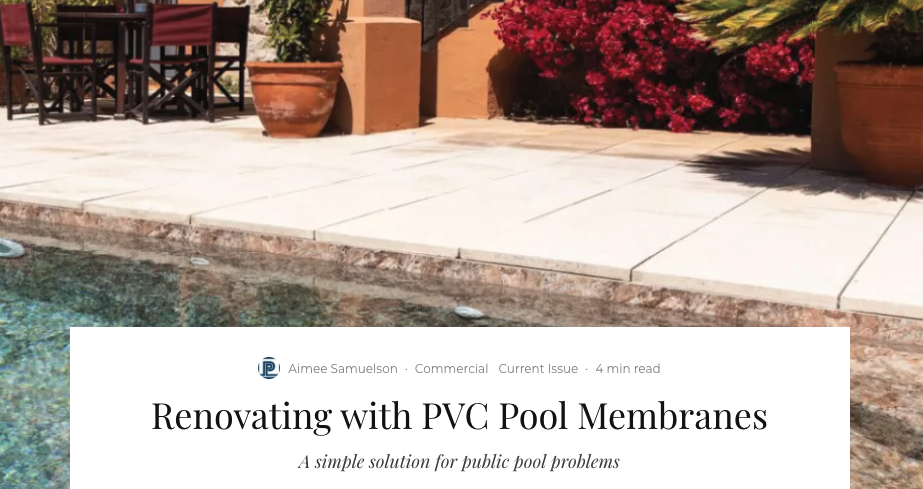 Membrane Concepts Featured on PoolPro